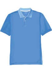 Realistic polo shirt template