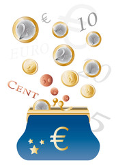Porte-monnaie et euros