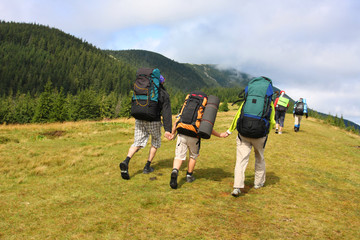 Hiking in the Carpathian mountains..