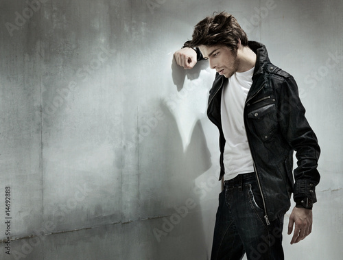 Melancholic guy, very handsome men