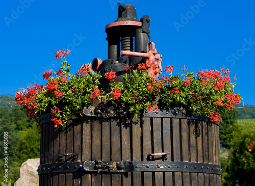 wine-press, Orschwihr, Alsace, France