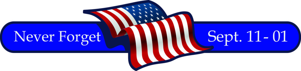 september 11, 2001 with flag