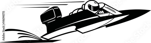 hydroplane speed boat - 14694078