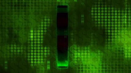 Green Dollar Sign Pattern Background (loop)