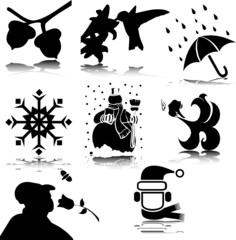 illustration off stuff vector silhouettes