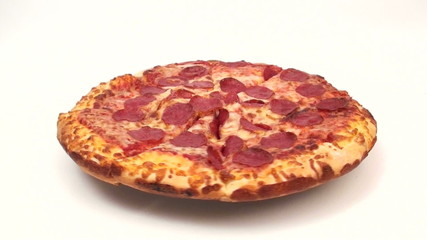 The perfect pepperoni pizza background loop - HD