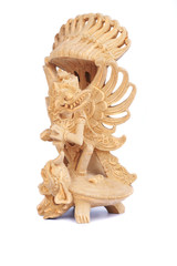 wooden statuette of indnesian god garuda