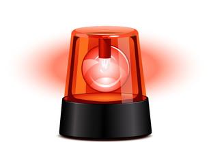 Red flashing light