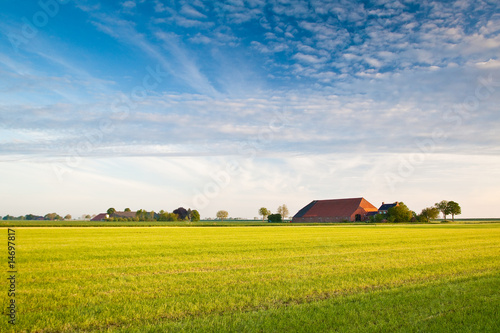 Countryside with farm