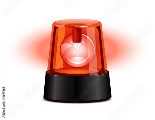 Red flashing light - 14697865