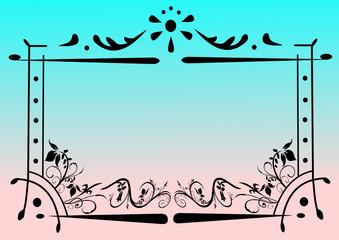Ornamente und Rahmen als Design