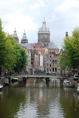 City center of Amsterdam, Holland