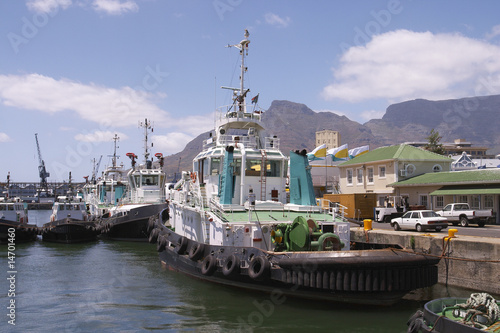 Tug Boats in Cape Town Harbour.