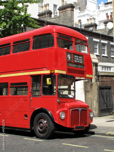 London Double Decker Bus Poster