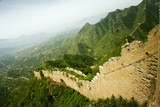 ruined wall of the great wall, hebei province poster