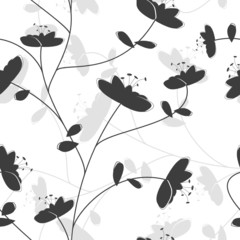 vector seamless wallpaper...monochrome version...