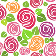 roleta: rose seamless pattern