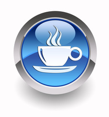 Coffee break glossy icon
