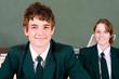 confident high school students