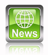 """NEWS"" square glossy icon"