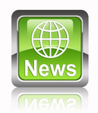 """NEWS"" square glossy icon"