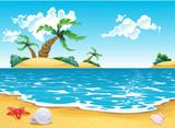 Fototapety Cartoon seascape