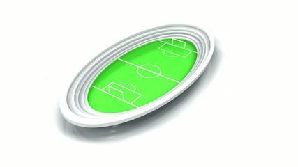 Stade foot 3D