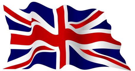 Wavy british flag