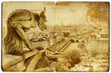 Parisian vintage card -Notre-dame