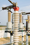elements of high-voltage substation poster