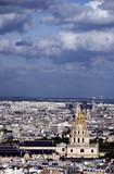 cityscape view invalides of paris france poster