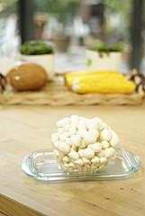 Enoki mushroom in modern kitchen