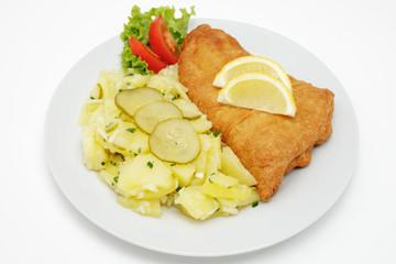 Seelachsfilet  mit Kartoffelsalat