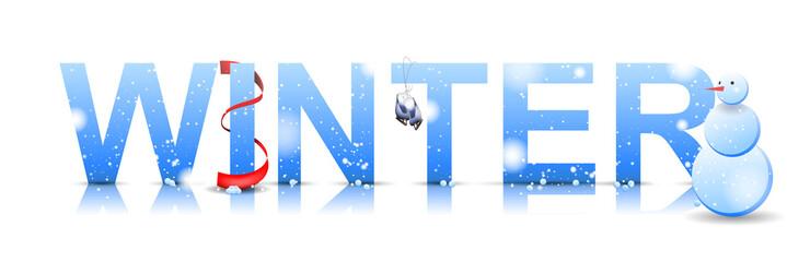 Winter text icon