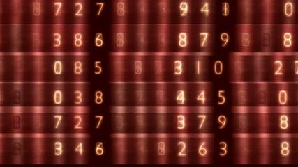 rote Zahlenkolonne