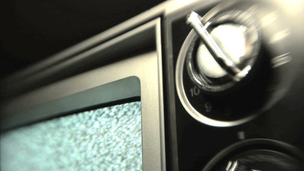 Older television playing static