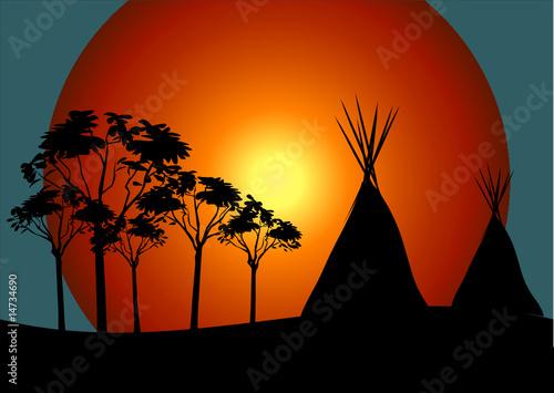 In de dag Indiërs Indianer Tipi Zelt