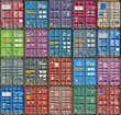 canvas print picture - Freight Containers