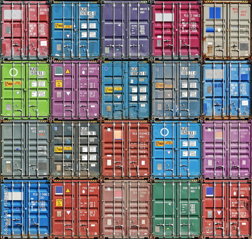 canvas print picture Freight Containers