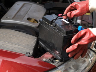 Changing battery in the car