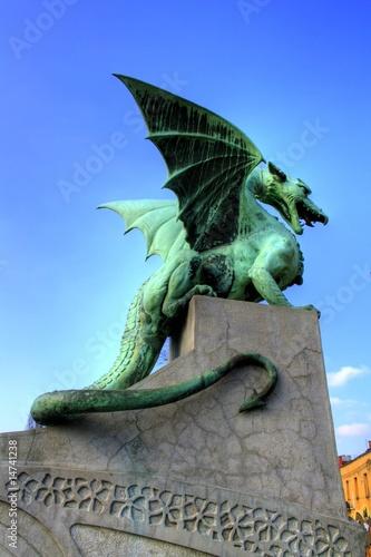 Foto op Canvas Draken Leibach / Ljubljana - Slowakei / Slowakia