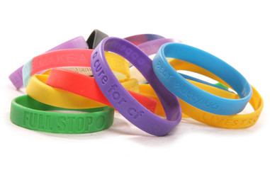 Various charity wristbands cutout