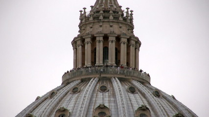 The topo of Saint Peter cupola, Rome