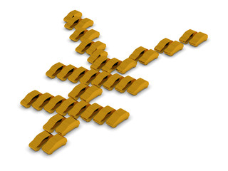 Golden Cars Yen Symbol
