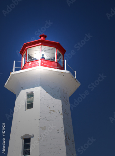 Lighthouse with light