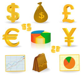 money currency icons