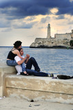 "Romantic couple at ""el malecon"""