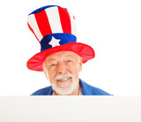 Uncle Sam Head - Happy poster