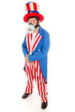 Uncle Sam in Gas Mask - Full Body poster