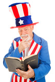 Uncle Sam Reads the Bible poster